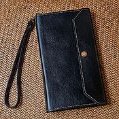 Сумки и аксессуары handmade. Livemaster - original item Buy men`s leather wallet black / Genuine Italian leather. Handmade.