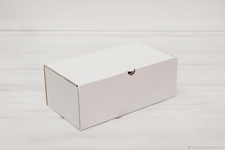 Коробка для посылок 27х14,5х10 см, белая, Материалы для творчества, Москва, Фото №1