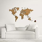 Stained glass manualidades. Livemaster - hecho a mano World map of Wall decoration Brown 130x78. Handmade.