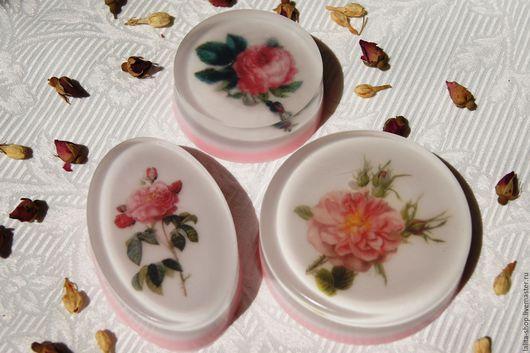 """Мыло ручной работы. Ярмарка Мастеров - ручная работа. Купить Мыло """"Английские розы"""". Handmade. Розовый, подарок женщине"""