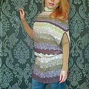 """Одежда ручной работы. Ярмарка Мастеров - ручная работа Безрукавка-свитер """"Макарони"""". Handmade."""
