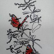 """Картины ручной работы. Ярмарка Мастеров - ручная работа Вышивка """"Бабочки на белом 2""""серия:бабочки. Handmade."""