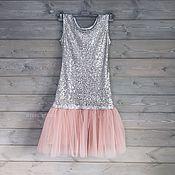 Одежда ручной работы. Ярмарка Мастеров - ручная работа Платье из пайеток и фатина. Handmade.