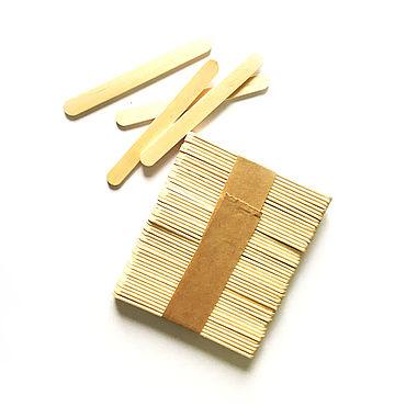 Материалы для творчества ручной работы. Ярмарка Мастеров - ручная работа Маленький деревянный шпатель 50 штук. Handmade.