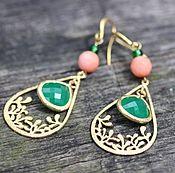 Украшения handmade. Livemaster - original item Earrings Juicy greens. Handmade.