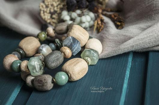 """Браслеты ручной работы. Ярмарка Мастеров - ручная работа. Купить Комплект браслетов """"Льдинки"""". Handmade. Зеленый, браслет с камнями"""