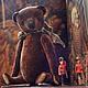 Мишки Тедди ручной работы. Ярмарка Мастеров - ручная работа. Купить Кристиан, 22 см. Handmade. Коричневый, елка, тедди