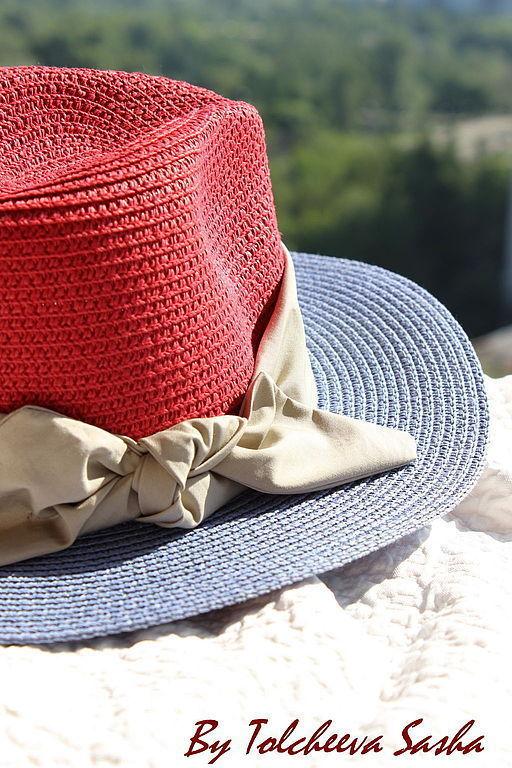 Шляпы ручной работы. Ярмарка Мастеров - ручная работа. Купить Шляпа без названия . Версия в красных тонах.. Handmade. Шляпа