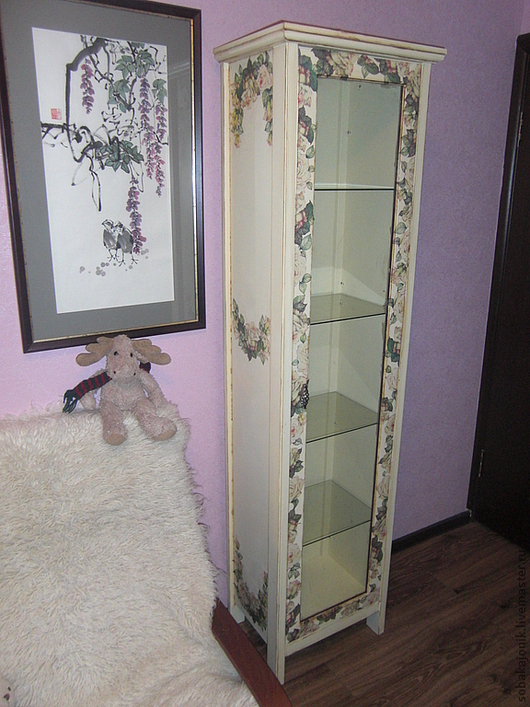 """Мебель ручной работы. Ярмарка Мастеров - ручная работа. Купить Шкаф-витрина """"Нега"""". Handmade. Бежевый, мебель в стиле прованс"""