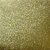 Материалы для творчества ручной работы. Ярмарка Мастеров - ручная работа Бумага с золотым глиттером. Handmade.