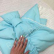 Работы для детей, ручной работы. Ярмарка Мастеров - ручная работа Мятный и голубой конверты. Handmade.