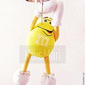 Куклы и игрушки ручной работы. Ярмарка Мастеров - ручная работа игрушка m&m`s Жёлтый, можно Красного, Синего или Зелёного). Handmade.
