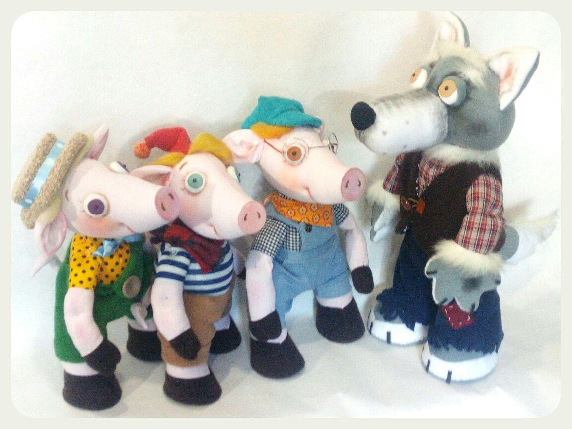Кукольный театр. Три поросёнка. Планшетные куклы для спектакля, Кукольный театр, Орел,  Фото №1