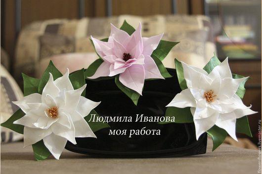 Цветы ручной работы. Ярмарка Мастеров - ручная работа. Купить Цветы из фоамирана. Пуансеттия. Handmade. Белый, фоамиран, ручная работа