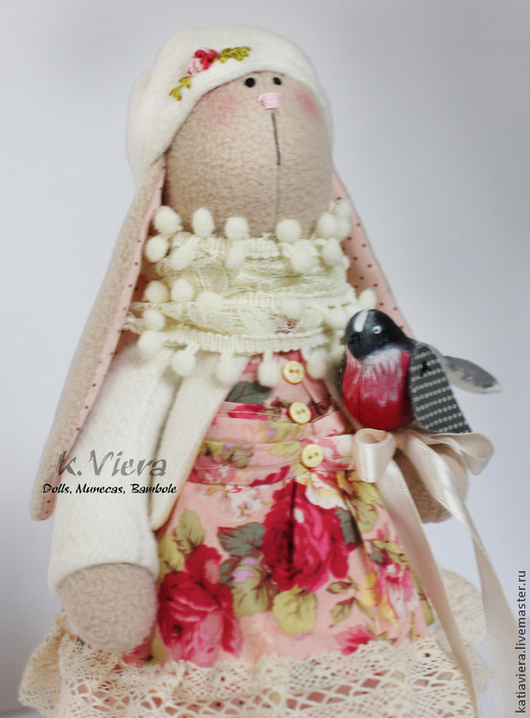 Тильда,заяц,куклы, игрушки ручной работы, зайка тильда, заяц, handmade, K.Viera, Ярмарка Мастеров.