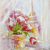 """Картины и панно ручной работы. Ярмарка Мастеров - ручная работа картина """"Парижские тюльпаны"""". Handmade."""