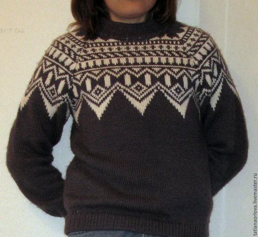 """Кофты и свитера ручной работы. Ярмарка Мастеров - ручная работа. Купить Свитер """"Исландский,серый». Handmade. Свитер, стильный подарок"""