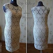 Одежда ручной работы. Ярмарка Мастеров - ручная работа Платье Жозефина 46 размер. Handmade.