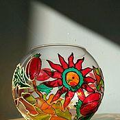 """Для дома и интерьера ручной работы. Ярмарка Мастеров - ручная работа Подсвечник """"Аленький цветочек"""". Handmade."""