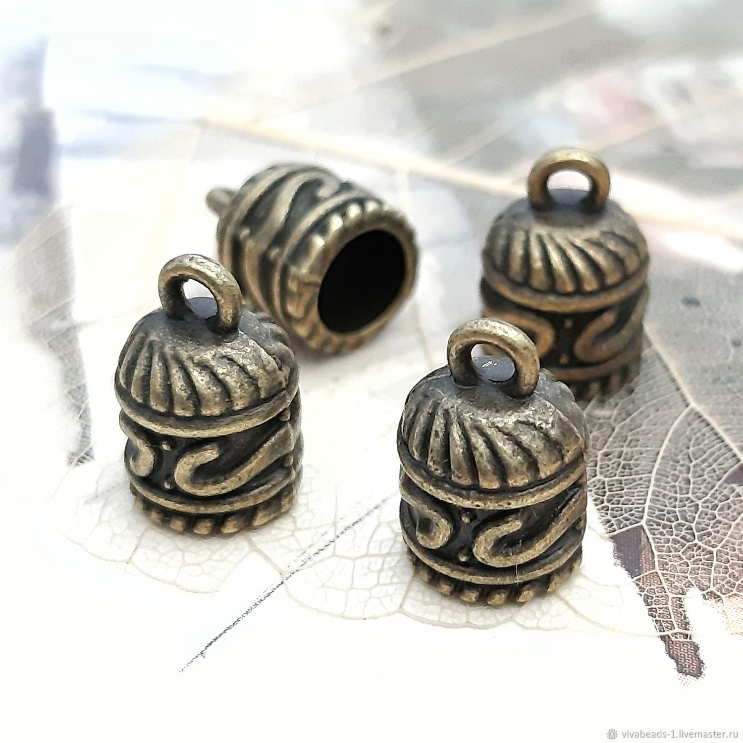 The limit is 12.5x8 mm EXT. d 6 mm bronze (art. 3122), Accessories for jewelry, Voronezh,  Фото №1