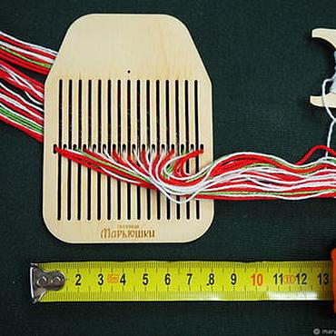 Материалы для творчества ручной работы. Ярмарка Мастеров - ручная работа Бердо на 31 нитку. Для тонких ниток! Инструменты для ткачества поясов. Handmade.