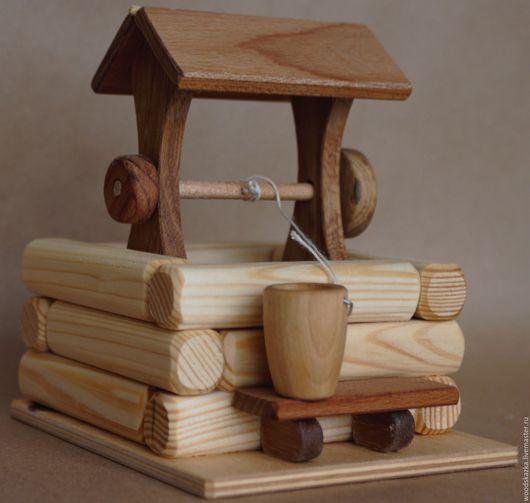 Кукольный дом ручной работы. Ярмарка Мастеров - ручная работа. Купить Колодец. Handmade. Колодец, русский колодец, сосна