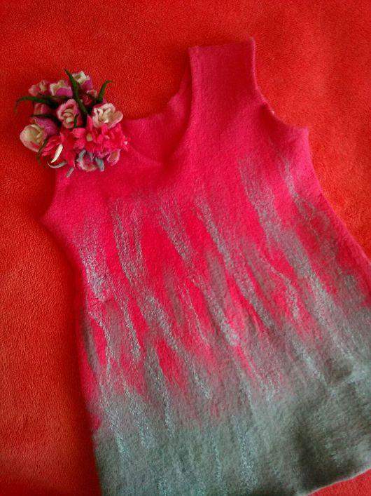 Одежда для девочек, ручной работы. Ярмарка Мастеров - ручная работа. Купить Валяный  сарафан. Handmade. Сарафан, цветной сарафан