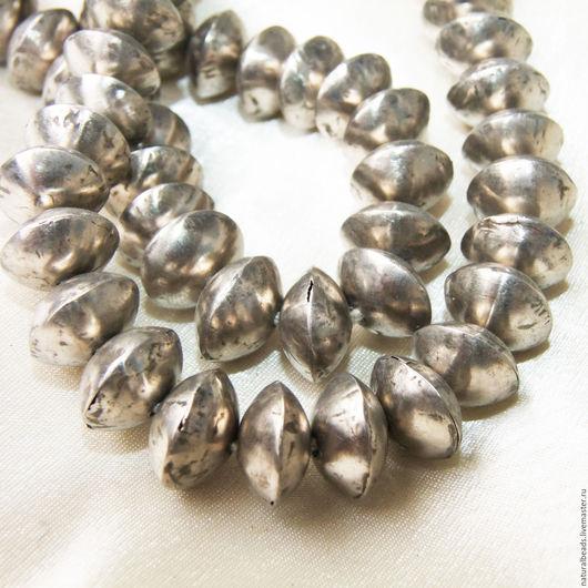 Для украшений ручной работы. Ярмарка Мастеров - ручная работа. Купить КОНУС РОНДЕЛЬ серебристый крупный бусины металл Африка. Handmade.