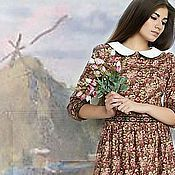 Одежда ручной работы. Ярмарка Мастеров - ручная работа летнее платье country music. Handmade.