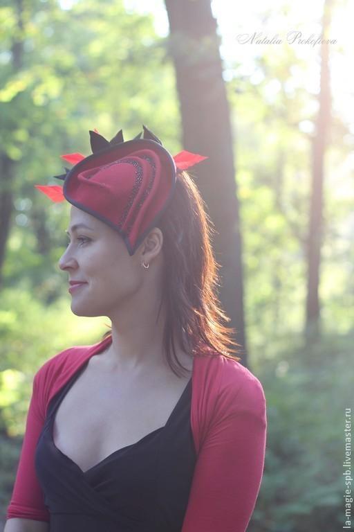 """Шляпы ручной работы. Ярмарка Мастеров - ручная работа. Купить Вечерняя шляпка """"Dans le parc de comte..."""" (В графском парке). Handmade."""