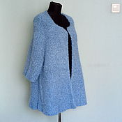Одежда handmade. Livemaster - original item Blue cardigan