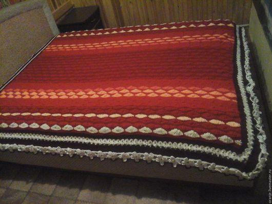 Текстиль, ковры ручной работы. Ярмарка Мастеров - ручная работа. Купить Вязаный крючком плед. Handmade. Комбинированный, плед вязаный