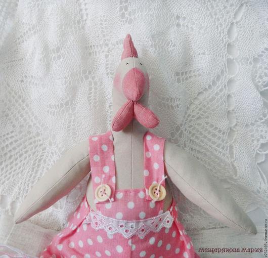 Куклы Тильды ручной работы. Ярмарка Мастеров - ручная работа. Купить курочка Коко. Handmade. Розовый, ручная работа handmade