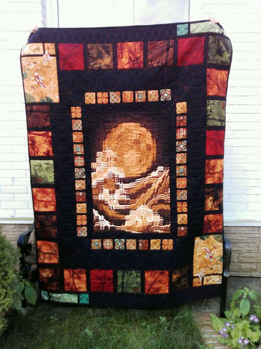 """Текстиль, ковры ручной работы. Ярмарка Мастеров - ручная работа. Купить Лоскутное покрывало """"Луна"""". Handmade. Лоскутное шитье"""