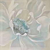 Картины ручной работы. Ярмарка Мастеров - ручная работа Картина с Пионами, картина цветы, картина на шелке. Handmade.