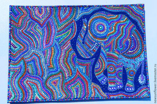 Обложки ручной работы. Ярмарка Мастеров - ручная работа. Купить Кожаная обложка на паспорта Радужный Слон  Point-to-point. Handmade.
