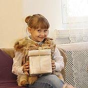 Работы для детей, ручной работы. Ярмарка Мастеров - ручная работа Жилет детский из лисы. Handmade.