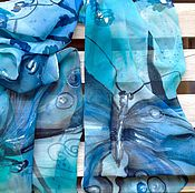 """Аксессуары ручной работы. Ярмарка Мастеров - ручная работа Батик  Шарф  """"Бабочка Моя"""". Handmade."""