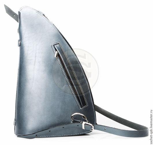 """Рюкзаки ручной работы. Ярмарка Мастеров - ручная работа. Купить Женский кожаный рюкзак """"Парус"""" синий. Handmade. Кожаный рюкзак"""