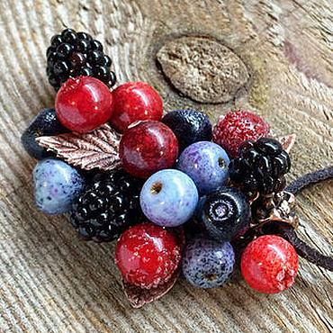 """Украшения ручной работы. Ярмарка Мастеров - ручная работа Кулон lampwork """"Северные ягоды"""". Handmade."""