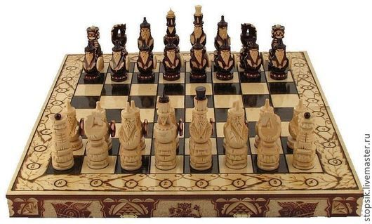 Настольные игры ручной работы. Ярмарка Мастеров - ручная работа. Купить Шахматы, нарды, шашки Джинн 7124. Handmade. Подарок