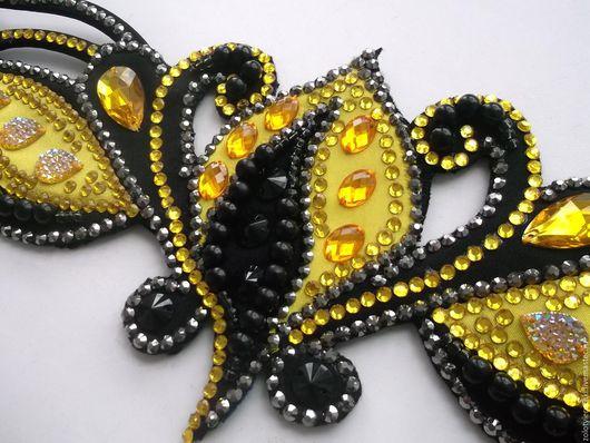 Танцевальные костюмы ручной работы. Ярмарка Мастеров - ручная работа. Купить Восточный костюм. Handmade. Желтый, танец живота, проволока