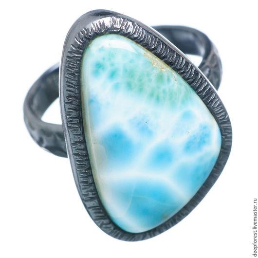 Кольца ручной работы. Ярмарка Мастеров - ручная работа. Купить Кольцо с ларимаром. Handmade. Голубой, серебряное кольцо, ларимар природный