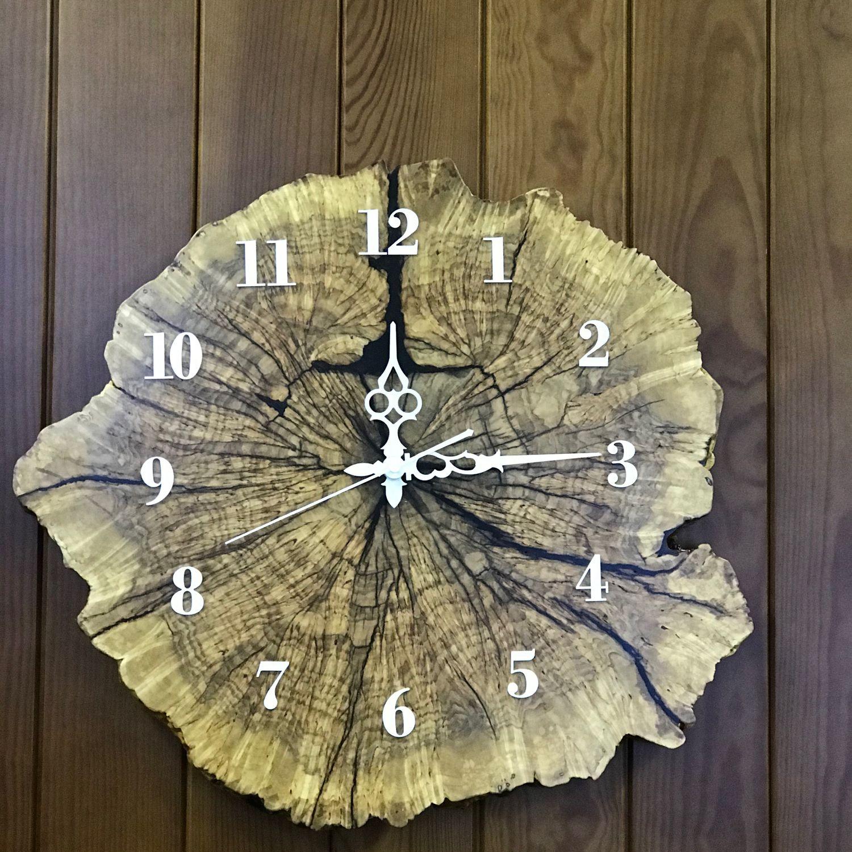 Настенные часы из спила карельской берёзы, Часы классические, Москва,  Фото №1