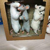 Год Крысы 2020 ручной работы. Ярмарка Мастеров - ручная работа Крыса символ нового года. Handmade.