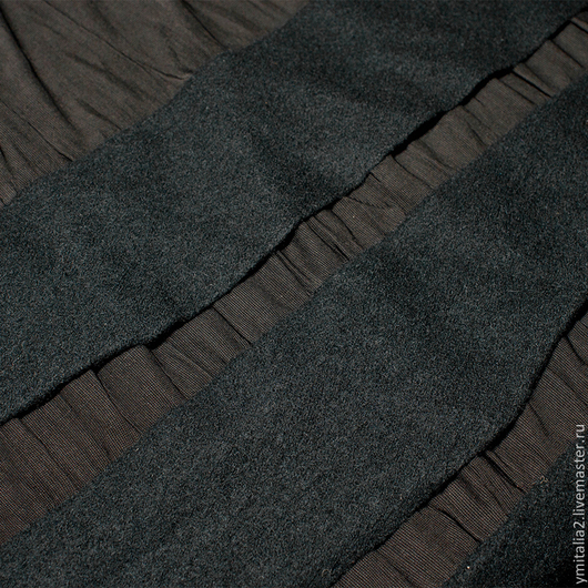 Шитье ручной работы. Ярмарка Мастеров - ручная работа. Купить Дизайнерская ткань  с нашитым лоденом   Issey Miyakе. Handmade.