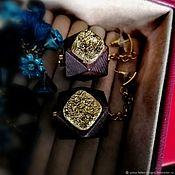 Украшения handmade. Livemaster - original item Hidden Camera Earrings:). Crystal with druse and wood.. Handmade.