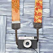 Аксессуары ручной работы. Ярмарка Мастеров - ручная работа Ремень для фотоаппарата Orange. Handmade.