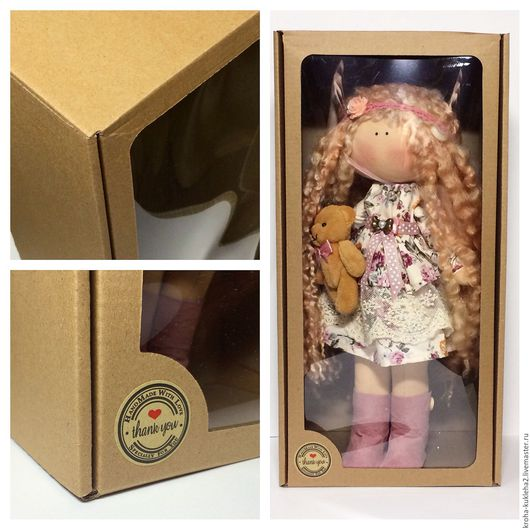 Куклы и игрушки ручной работы. Ярмарка Мастеров - ручная работа. Купить Коробка для кукол и игрушек (34х18х11 см). Handmade. Упаковка