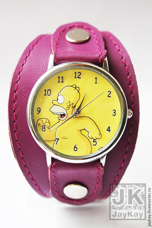 """Часы ручной работы. Ярмарка Мастеров - ручная работа. Купить Часы наручные JK """"Гомер"""". Handmade. Часы"""